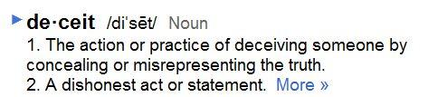Wonderful First A Definition Of Deceitu2026
